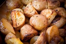 запеченная картошка кусочками