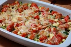 Кабачки запеченные с помидорами в духовке - пошаговый рецепт