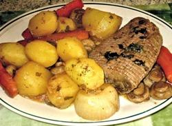 Картошка с грибами запеченная в духовке - рецепты приготовления