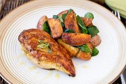 Куриная грудка с картошкой запеченная в духовке - рецепты