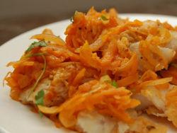 Минтай с морковью и луком в духовке - пошаговый рецепт
